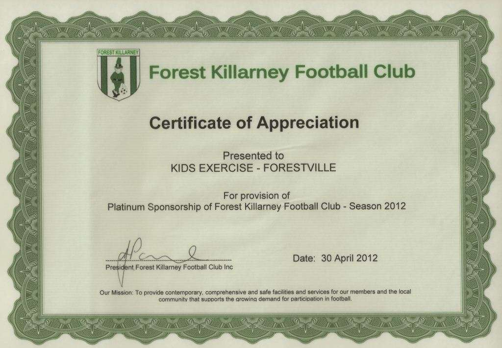 Sponsorship forest killarney football club yadclub